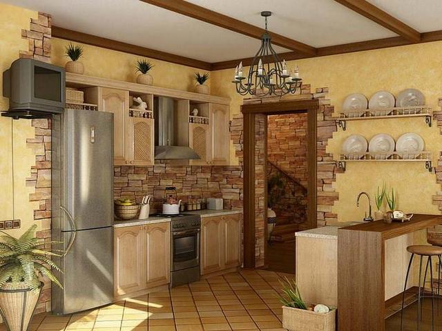 Umelý kameň v interiéri kuchyne