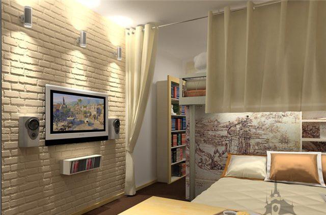 Клинкерный кирпич в интерьере жилых комнат