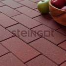 Тротуарная плитка Брусчатка 200*100*60 Темно-красная (верхний прокрас, минифаска)