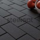 Тротуарная плитка Брусчатка 200*100*60 Черная (верхний прокрас, минифаска)