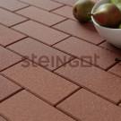 Тротуарная плитка Брусчатка 200*100*60 Коричневая (верхний прокрас, минифаска)