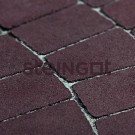 Тротуарная плитка Классика Арко Темно-коричневая