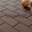 Тротуарная плитка Брусчатка 200*100*40 Темно-коричневая (верхний прокрас, минифаска)
