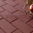 Тротуарная плитка Брусчатка 200*100*40 Темно-красная (полный прокрас)