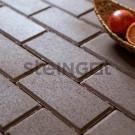 Тротуарная плитка Брусчатка 200*100*40 Коричневая (полный прокрас)