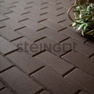 Тротуарная плитка Брусчатка 200*100*40 Темно-коричневая (полный прокрас)