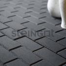 Тротуарная плитка Брусчатка 200*100*60 Черная (верхний прокрас)