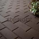 Тротуарная плитка Брусчатка 200*100*60 Темно-коричневая (верхний прокрас)