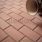 Тротуарная плитка Брусчатка 200*100*60 Бежевая (верхний прокрас)