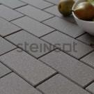 Тротуарная плитка Брусчатка 200*100*40 Серая (полный прокрас, минифаска)