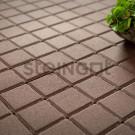 Тротуарная плитка Квадрат 100*100*60 Темно-коричневый (верхний прокрас)