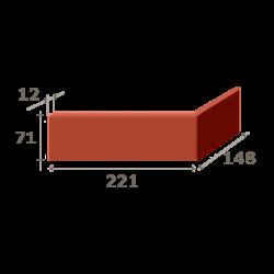 Угол (221+148) x 11 x 71 мм