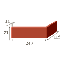 Угол NF (240+115) x 11 x 71 мм.
