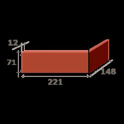 Угол с раздельными частями (221+148) x 11 x 71 мм